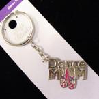 Metal Silver DANCE MOM Keychains 12 per pk .62 ea