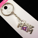 Metal Silver CHEER MOM Keychains 12 per pk .62 ea