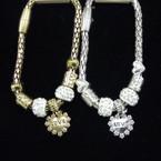 Magnetic Pandora Style  Bracelet w/ Love Heart Charm .56 ea