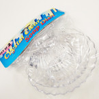 "2 Pk 6"" Clear Sea Shell Soap Dishes 24-2pks per bx .50 ea set"