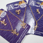 Gold Chain Necklace & Tac Pin Set Mixed w/ Angels ONLY .50 per set