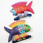 "4"" Puerto Rico Souvenir  Poly Resin Colorful Fish 21 per bx @ .49 ea"