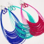 "22"" 20 Strand Seed Bead Fashion Necklace Sets .54 ea set"