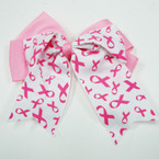 "5.5"" 2 Layer Gator Clip Bow w/Pink  Ribbons   .54 ea"