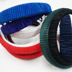 CLOSEOUT Pleated Fabric Headbands 12 per pk .16 ea