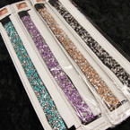 Mixed Color Sparkle Stone Stretch Headbands .54 ea