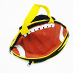 "6"" X 10"" 2 Zipper Football All Purpose Bag w/ Handle sold by pc $ 1.25 ea"