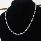 "16"" Silver Shot Bead  Industrial  Style Necklace 12 per pk @ .50 ea"