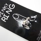 CLOSEOUT Silver Pinky Ying Yang Rings 12 per pk @ .16 ea