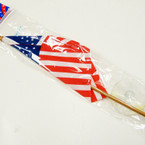"4"" X 6"" USA Flag on Gold Stick w/ Suction Cup 12 per pk @ .35 ea"