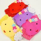 """2.5"""" Wide Crochet Headband w/ 4"""" Kitty Ornament .54 ea"""