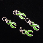 Green Awareness Charms 36 per pk @ .16 ea