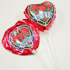 "Self Inflate 8"" I Love You Balloon on 15"" Stick 6 per pk @ .40 ea"