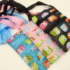 "4"" X 6.5"" Owl Theme 2 Zipper Side Bags .54 ea"