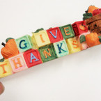 """CLOSEOUT 6"""" Give Thanks Poly Resin 19 per pk @ .40 ea"""