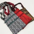 """4"""" X 6.5"""" Heart Pattern  2 Zipper Side Bags w/ Strap  .54 ea"""
