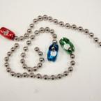 CLOSEOUT Silver Bead Bracelet w/ Colored Clasp 12 per pk .25 ea