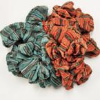 CLOSEOUT Orange & Green Pattern Scrungi 12 pk @ .29 ea