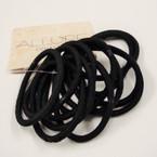 12 Pk Thicker Elastic  Ponytailers All Black .48 per set