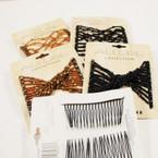 "3"" DBL Comb Hair Fashion w/ Beads  4-3 pks per sale  .48 ea"