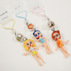CLOSEOUT Sassy Girl Lite Up Cell Phone Charm 12 per pk .08 ea