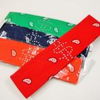 "2"" Wide Bandana Print Headbands w/ Stone $ Sign 12 per pk  .29 ea"