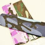"""2"""" Wide Camo Print Headbands w/ Stones 12 per pk  .29 ea"""