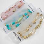 2 Pack Multi Style Beaded Fashion  Bracelet .50 per set