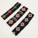 Hand Made Seed Beaded Stretch Bracelets 3 styles per pk  .50 ea
