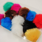 "3"" Faux Fur Fashion Keychain/Purse Charm Asst Brights .57 ea"
