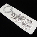Silver Tree of Life Charm  Keychain .54 ea