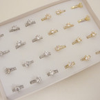 SPECIAL Crystal Stone Prong Set Rings 24 per bx @ .37 ea