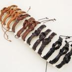 Teen Leather Bracelets w/ Knot Center .54 ea