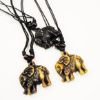 Teen DBL Cord Necklace w/ Elephant Pendant .54 ea