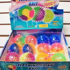"3"" Two Tone Spikey Light Up YoYo Ball 12 per display .56 ea"