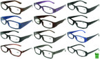 Unisex Asst Color Plastic Reading Glasses  12 per bx  .65 ea