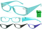 Ladies Stone Look Style Fashion Reading Glasses  12 per bx  .83 ea