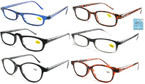 Unisex Mixed Style & Color Plastic Reading Glasses  12 per bx  .65 ea