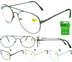 Unisex Aviator Look Wire Frame Reading Glasses  12 per bx  ON SALE .55 ea