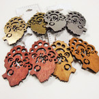 "2.75"" Fashion Lady Cut Open Style Wood Earrings .52 ea"