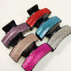 """Best Quality 3.75"""" Crystal Stone Jaw Clips .56 ea"""
