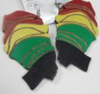 """3.5"""" Rasta Color Lady in Turbin Fashion Earrings .54 ea"""