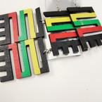 """2.5"""" Rasta Color LOVE Tile Wood Fashion Earrings .52 ea"""