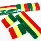 Rasta Color Teri Sweatband & Wrist Band Set .54 per set