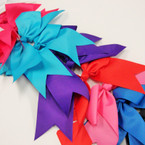 "6"" X 8"" Big Cheerleader Tail Gator Clip Bow Mixed Colors ONLY .54 ea"