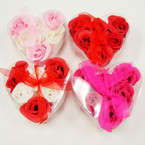 6 Pk Scented Roses in Heart Shaped Container ONLY .60 ea