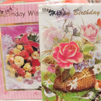 "Beautiful 5""X8"" Shadow 3D Birthday Cards 24 per bx @ .35 ea"