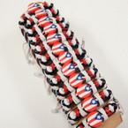 Teen Leather Bracelet w/ Fimo Puerto Rico Flag .54 ea