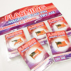 CLOSEOUT Magnetic Flashing USA Flag Pins 36 per display .10 ea