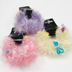 CLOSEOUT Crochet Rope & Tinsel Scrungi 12 per pk @ .30 ea